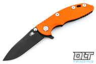 "Hinderer 3"" XM-18 No Choil Slicer M390 - Battle Black DLC - Orange G-10"