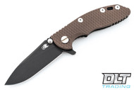 "Hinderer 3"" XM-18 No Choil Slicer M390 - Battle Black DLC - FDE G-10"