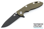 "Hinderer 3"" XM-18 No Choil Slicer M390 - Battle Black DLC - OD Green G-10"