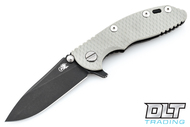 "Hinderer 3"" XM-18 No Choil Slicer M390 - Battle Black DLC - Grey G-10"