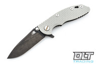 "Hinderer 3"" XM-18 No Choil Slicer M390 - Stonewashed Black DLC - Grey G-10"