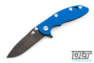 "Hinderer 3"" XM-18 No Choil Slicer M390 - Stonewashed Black DLC - Blue G-10"