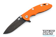 "Hinderer 3"" XM-18 No Choil Slicer M390 - Stonewashed Black DLC - Orange G-10"