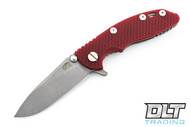 "Hinderer 3"" XM-18 No Choil Slicer M390 - Working Finish - Red G-10"