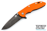 "Hinderer 3.5"" XM-18 No Choil Spanto M390 - Stonewashed Black DLC - Orange G-10"