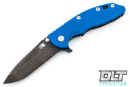 "Hinderer 3.5"" XM-18 No Choil Spanto M390 - Stonewashed Black DLC - Blue G-10"