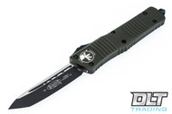 Microtech 144-1OD Combat Troodon T/E - OD Green Handle - Two-Tone Black Blade