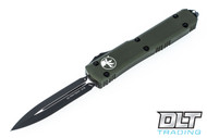 Microtech 122-1OD Ultratech D/E - Green Handle - Contoured - Black Blade