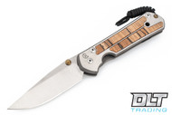 Chris Reeve Knives Large Sebenza 21 - Spalted Beech Inlay - #38