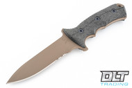 "Chris Reeve Knives Green Beret - 5.5"" - Flat Dark Earth - Partially Serrated"