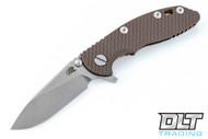 """Hinderer 3"""" XM-18 Slicer - Bronze Anodized - FDE G-10"""