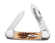 Case Canoe CV Amber Bone Pocket Knife