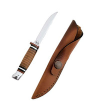 Case Hunter 3 1/8 Clip Blade w Leather Handle