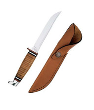 "Case Hunter 5"" Clip Blade w Leather Handle"