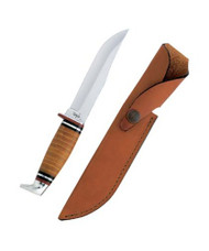 "Case Hunter 5"" Clip Blade w/ Leather Handle"