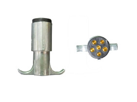 CLEARANCE: 6-Pin Round Trailer Connector (Male)