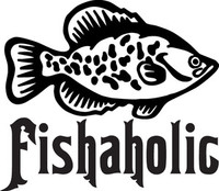 Crappie Decal FSN1-143 Fishaholic Vinyl Window Sticker