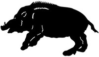 Wild Hog Decal #33MD Truck Window Stickers