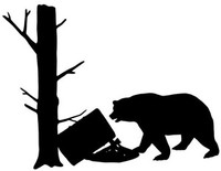 Bear Hunting Decal #3 MD Vinyl Truck Window Stickers