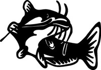 Catfish Decals FSN1-236 Vinyl Fishing Window Stickers