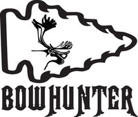 Bowhunter Moose Decal HTN1-219 Big Game Hunting Stickers