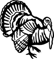 Turkey Decal HNT1-289 Truck Vinyl Window Sticker