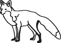 Fox Decal HNT1-342 Wildlife Outdoors Hunting