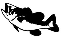 Bass  Decal WD#93 Fishing Boat Window Stickers