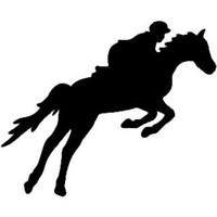 Equestrian Horse Jumping Decal ST2010S #002 Window Stickers