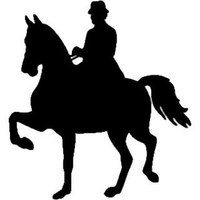 Equestrian Decal ST2010S #001 Truck Trailer Window Stickers