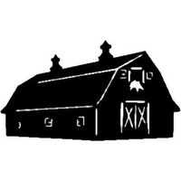 Barn Decal ST2010B #1 Farm Scenery Window Stickers