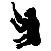 Gorilla Decal STSBA #9 Vinyl Wildlife Window Stickers