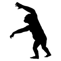 Gorilla Decal STSBA #4 Vinyl Wildlife Window Stickers