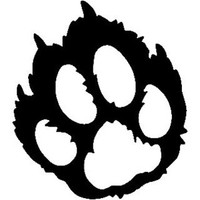 Cougar Paw Track ST2010A Wildlife Window Decals & Stickers
