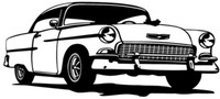 """55 Chevy Hard Top Decal BCC Classic Cars 12"""""""
