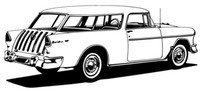 """55 Chevy Nomad Decal BCC Classic Cars 12"""" Antique"""