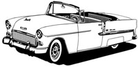 """55 Chevy Conv. Decal BCC Classic Cars 12"""" Antique"""