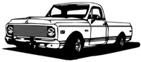 """1972 Chevy Truck Decal BCC 12"""" Vinyl Antique Classic Stickers"""