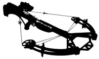 Cross Bow, Crossbow Decal, HNT2-21 Wildlife Deer Hunting Stickers