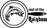 End Of Rainbow Decals and Trout Stickers. Personalize any of our fishing decals with your choice of text, color and size.These are perfect for trucks, cars, windows, gun cabinets, 4-wheelers, boats, mailboxes or any clean semi-smooth surface. Show your passion for fishing.