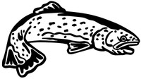 Trout Fishing Decals and Car Stickers. Personalize any of our fishing decals with your choice of text, color and size. These stickers are great for trucks, cars, windows, gun cabinets, 4-wheelers, boats, mailboxes or any clean semi-smooth surface. Show your passion for fishing.
