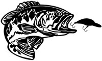 Bass Fishing Decals and Car Stickers. Personalize any of our fishing decals with your choice of text, color and size. These stickers are great for trucks, cars, windows, gun cabinets, 4-wheelers, boats, mailboxes or any clean semi-smooth surface. Show your passion for the outdoors.