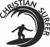 Christian Surfer Decals and Window Stickers