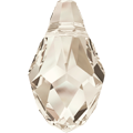 Swarovski Pendant 6007 - 9X5mm, Crystal Silver Shade (001 SSHA), 6pcs