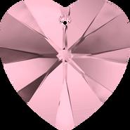 Swarovski Pendant 6228 - 14.4x14mm, Crystal Antique Pink (001 ANTP), 2pcs