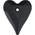 Swarovski Pendant 6240 - 12mm, Jet (280), 4pcs