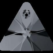 Swarovski Pendant 6628 - 12mm, Crystal Silver Night (001 SINI), 2pcs