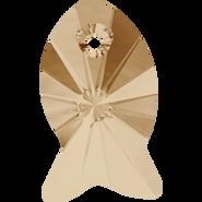 Swarovski 6727 - 18mm, Crystal Golden Shadow (001 GSHA), 2pcs