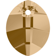 Swarovski Pendant 6734 - 14mm, Crystal Golden Shadow (001 GSHA), 2pcs