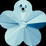 Swarovski Pendant 6744 - 14mm, Aquamarine (202), 4pcs
